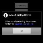Default Alertdialog Using DialogBoxes in Android