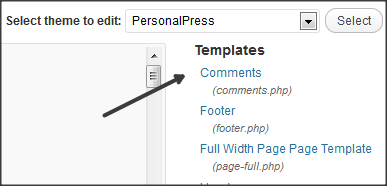 Remove wordpress comments and Comments are closed text